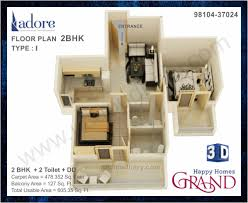 happy homes grand affordable project in faridabad layout plan 3d