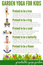 yoga for kids a walk through the garden yoga for kids yoga for