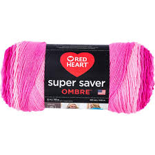 Pink Color Red Heart Super Saver Ombre Yarn Jazzy Pink Color Gradient Yarn By