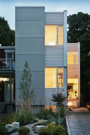 narrow lot houses narrow home in ottawa by rick shean