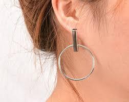 hoop studs hoop stud earrings etsy