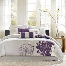 Purple Floral Comforter Set Madison Park Bridgette Floral Pattern Cotton 7 Piece Comforter Set