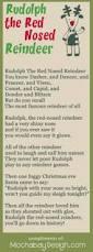 print rudolph red nosed reindeer christmas song lyrics bookmark