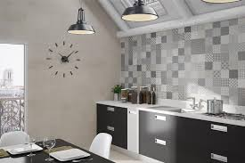cuisine carreaux decoration carrelage mural cuisine carreaux ciment gris motifs
