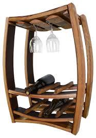 wine rack rosato hanging wine barrel rack with glass holders