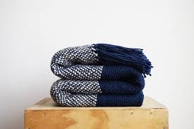 striped wool throw blanket striped throws blue blanket blue