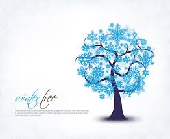 snow tree vector eps