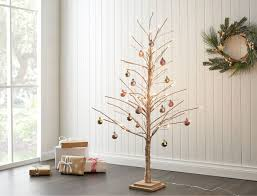 woodland led paper tree with snow small brown white