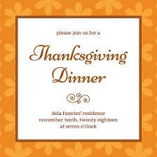 thanksgiving day dinner invitation templates by canva