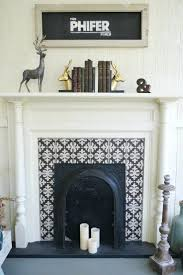 articles with fireplace insert trim ideas tag fetching trim