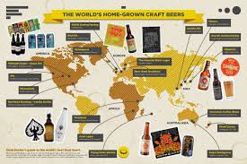The Best Map Of The World by The Best Home Grown Craft Beers Around The World Dealchecker