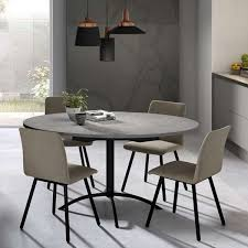 table cuisine table de cuisine ronde en stratifié extensible laser 4 pieds