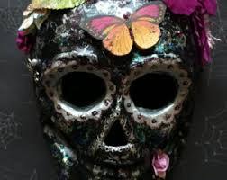 mardi gras skull mask black skull mask etsy