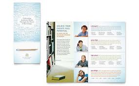 Tri Fold Program Education U0026 Training Tri Fold Brochure Templates