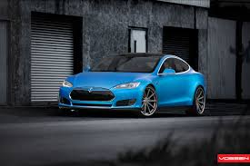 matte teal car matte blue tesla model s on 22 inch vossen wheel autoevolution