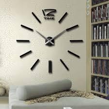 super deals inch modern d mirror wall clock diy room home decor