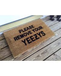 Buy Artsy Doormats Wipe Your Holiday Shopping Special Please Remove Your Yeezys Door Mat