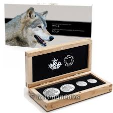 canada 2016 wildlife fractional set 2 lone wolf complete 4 coin