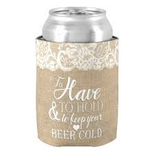 wedding can koozies custom wedding koozies modern matrimony designs