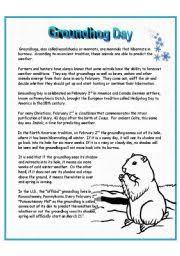 english teaching worksheets groundhog
