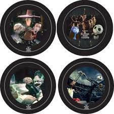 set of 4 nightmare collectors plates from our nightmare before