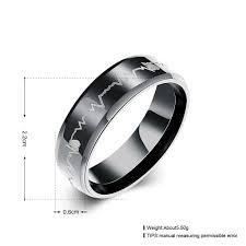 stainless steel mens rings stainless steel men s ring logo evermarker