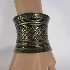 cuff metal bracelet images Antique dark rusty gold metal cuff bracelet moroccan decoration JPG
