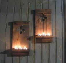 Cross Home Decor by Two Rustic Wall Sconce Reclaimed Wood Wall Cross U2013 Gft Woodcraft