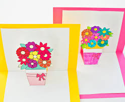 hello wonderful how to make pop up flower cards with free