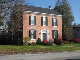 orange brick ranch house iwth black shutters brick house your