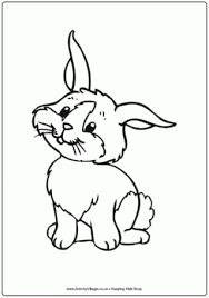 rabbit colouring 3 easter coloring pages