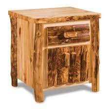 Bedroom Furniture With Hidden Compartments American Rustic Aspen Log Nightstand With Hidden Compartment