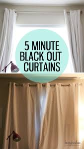 Blackout Curtains 5 Minute Blackout Curtains Honeybear Lane