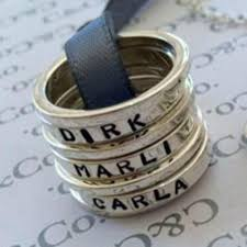 stacking name rings sterling silver stackable name rings honeybunch