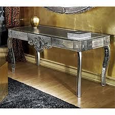 Venetian Console Table Mirrored Glass Hallway Table Venetian Glass Console Table
