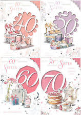 sister 60th birthday cards ebay