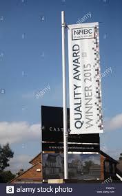 housebuilders national house builders council award winner sign stock photo