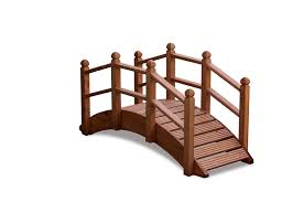 wooden garden bridge home outdoor decoration