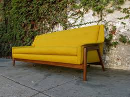 Vintage Mid Century Sofa Modern Mid Century Sofa In Mustard Yellow Sunbeam Vintage