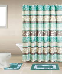 Bathroom Sets Shower Curtain Rugs Home Dynamix Bath Boutique Shower Curtain And Bath Rug Set Bq06