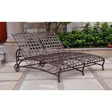 Outdoor Chaise Lounge Blazing Needles 48 X 72 In Outdoor Double Chaise Lounge Cushion