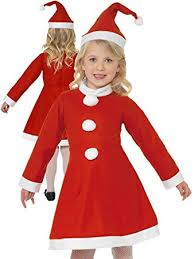 buy girls miss santa claus costume child christmas fancy dress