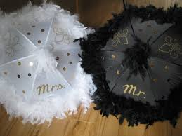 second line wedding mr and mrs wedding second line umbrellas set of 2