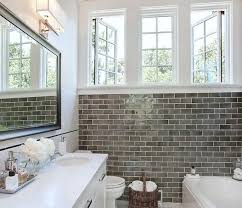 subway tile in bathroom ideas catchy grey subway tile bathroom and 644 best bathrooms images on