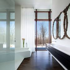 Unique Bathroom Mirrors by Blooming Unique Bathroom Mirrors With Stone Wall Small Stained