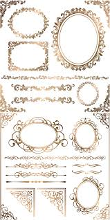 baroque floral frames corners and borders vector vector