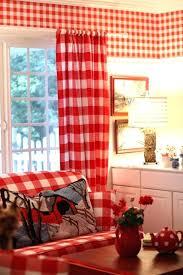 Gingham Nursery Curtains Red Gingham Curtains Interior Design