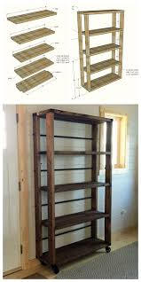 Simple Wood Storage Shelf Plans by Best 25 Rolling Shelves Ideas On Pinterest Rolling Shopping