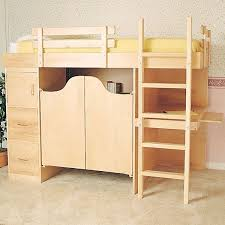 woodworking project paper plan to build 3 in 1 bunk bed plan no 844