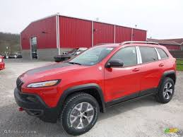 jeep cherokee trailhawk red 2017 firecracker red jeep cherokee trailhawk 4x4 119792743